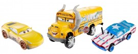 Set 3 masinute Derby Disney Cars 3 : Miss Fritter, Cigalert, Cruz Ramirez