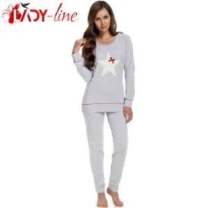 Pijama Dama Maneca/Pantalon Lung, 'Stars Season', DN-Nightwear
