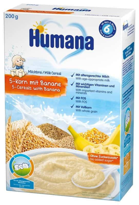 Humana 5 cereale cu banane