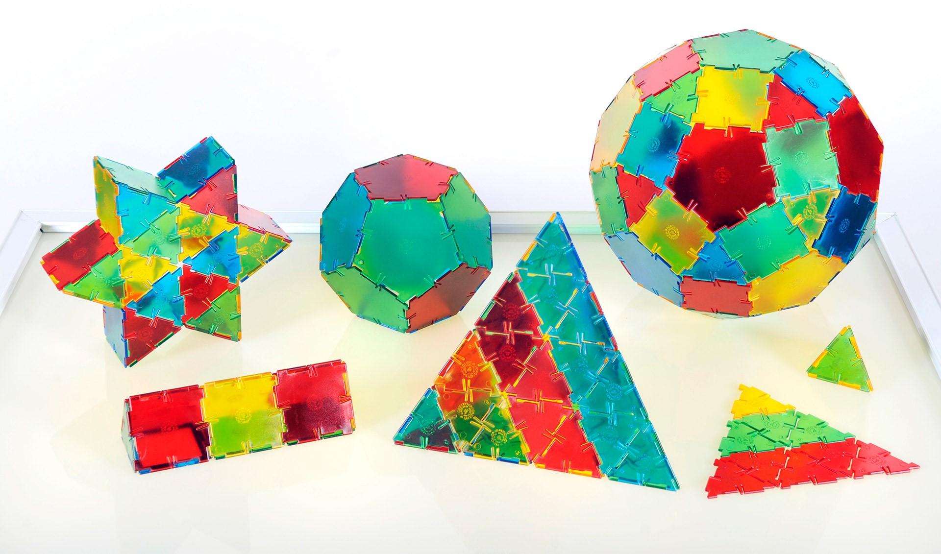 Polydron Translucent Set de baza 164 piese