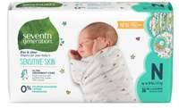 Scutece ecologice Seventh Generation Free&Clear - Nou Născut(N, max 4.5 kg) - 36 buc