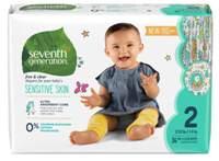 Scutece ecologice Seventh Generation Free&Clear - Mărimea 2(5-8kg) - 36 buc