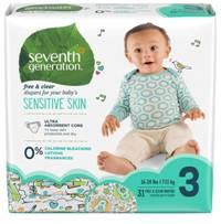 Scutece ecologice Seventh Generation Free&Clear - Mărimea 3(7-11kg) - 31 buc