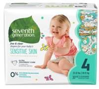 Scutece ecologice Seventh Generation Free&Clear - Mărimea 4(10-15kg) - 27 buc
