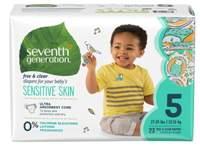 Scutece ecologice Seventh Generation Free&Clear - Mărimea 5(12-16kg) - 23 buc
