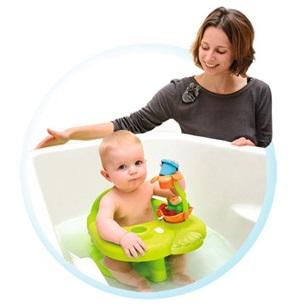 Scaunel de baie cu activitati verde Smoby