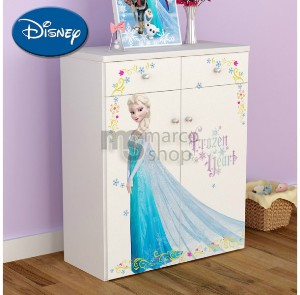 Comoda copii 2 usi 2 sertare Elsa