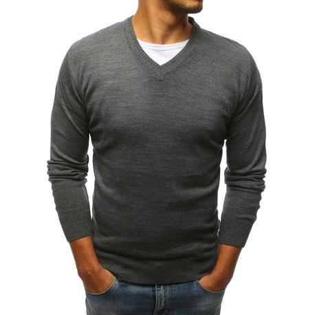 Bluza eleganta barbateasca, culoarea antracitului