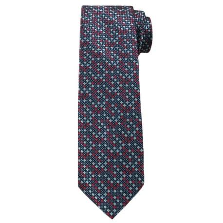 Cravata de culoare bleumarin cu rosu