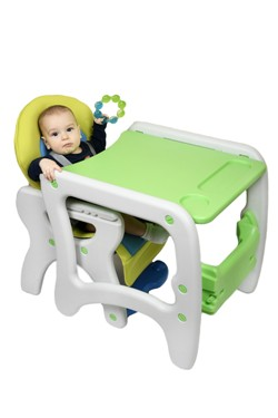 Scaun de masa Eat & Play Blue-Green Juju