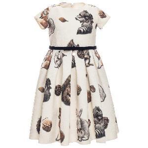 Monnalisa Rochie eleganta cu veverite