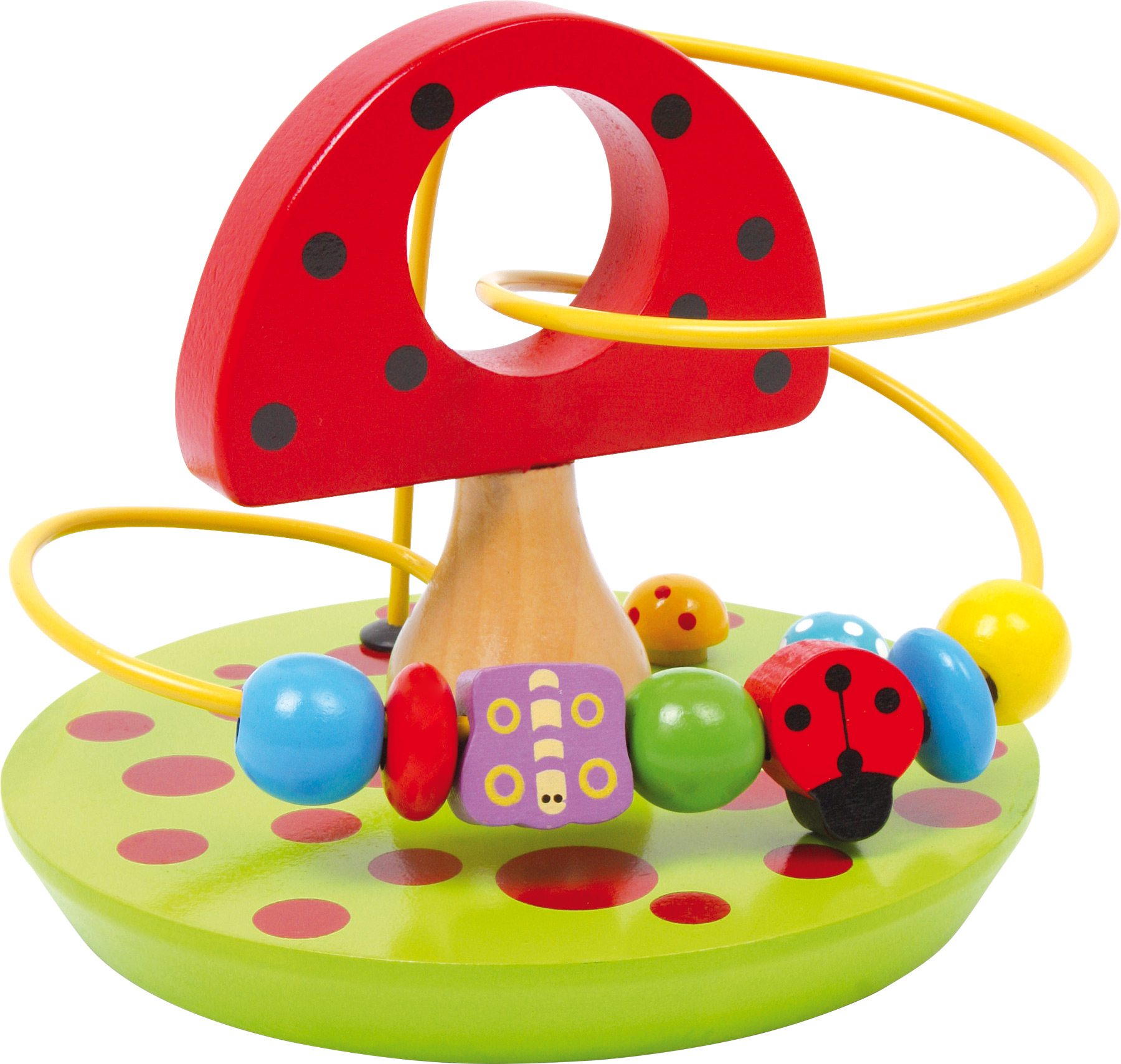 "Jucarie activitate motrica ""Ciuperca"" - Jucarie educativa din lemn pentru bebe"