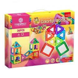 Joc Magnetic Educativ de Constructie 3D - 36 piese