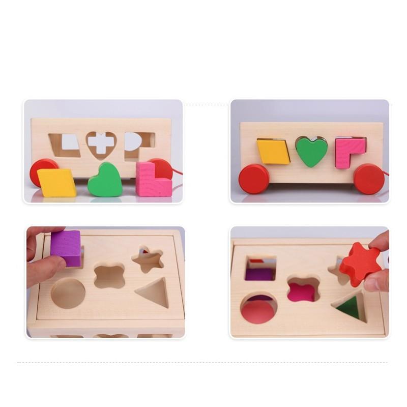 Cutie inteligenta din lemn de tras