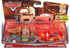 Set de masinute Fulger McQueen si Bucsa fara cauciucuri Cars