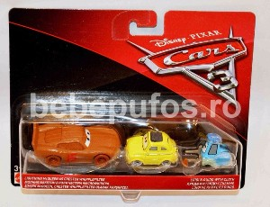 Set Fulger McQueen  Luigi si Guido Cars 3 Disney Mattel