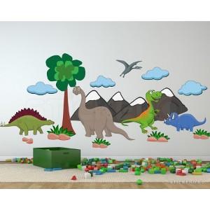 Dino Land - Sticker cu dinozauri pentru copii