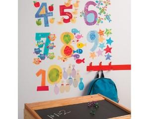 Sticker Decorativ pentru camere copii Numere
