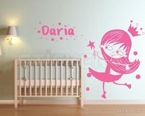 Sticker pentru copii Printesa si numele copilului