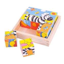 BigJigs Puzzle cubic - safari