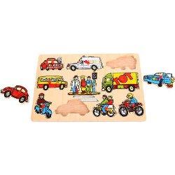 BigJigs Puzzle - Mijloace de transport