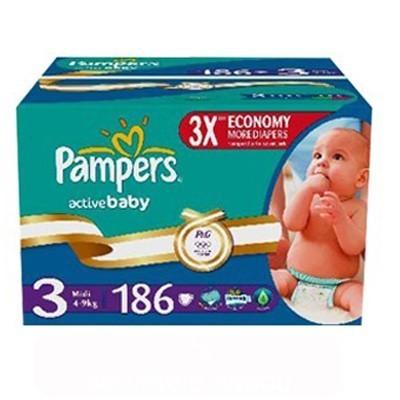 Scutec Pampers Active Baby 3 Midi Mega Box Pack