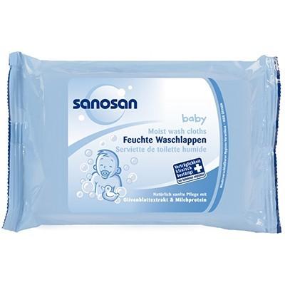 Servetele umede Sanosan Moist Wash Cloths