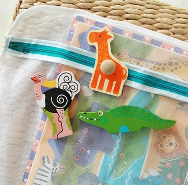 sac pentru piese puzzle