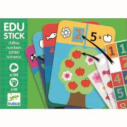 Djeco Edu-Stick Stickere educative cu Numere