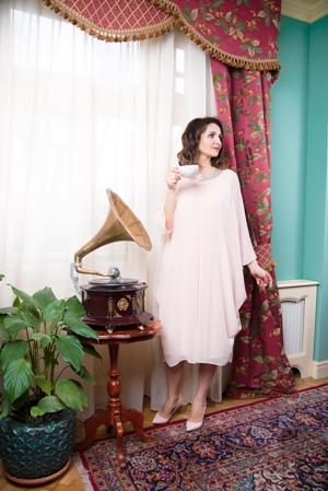 Rochie stilizată elegantă din voal