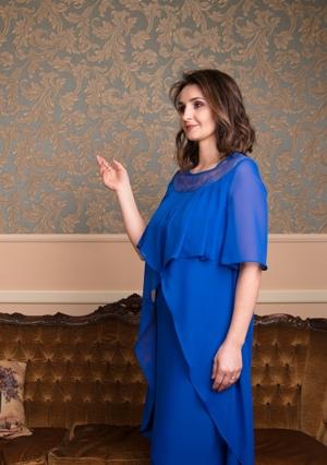 Rochie elegantă cu suprapunere din voal și dantelă