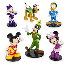 Set 6 figurine Mickey si pilotii de curse