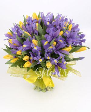 aranjamente florale cu irisi