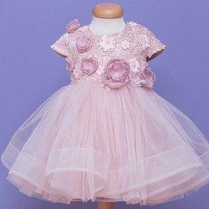 Rochita de botez roz pudra Dusty Pink Reveries