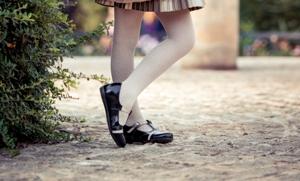 Pantofi copii mici 62c lac negru+bej