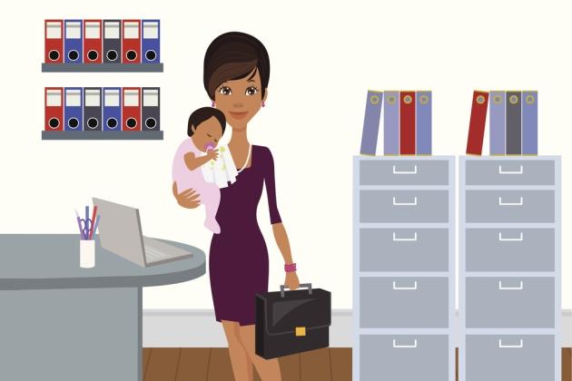 mama care se duce la munca