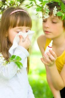 copil alergic