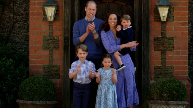 Kate Middleton, Printul William, Printul George, Printesa Charlotte si Printul Louis