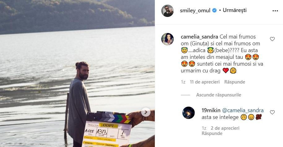 Captura comentariu la postarea lui Smiley