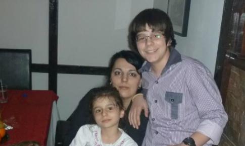 Diana impreuna cu cei doi copii