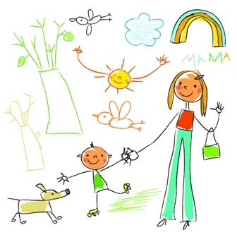 Poza desen colorat de un copil