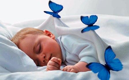 Poza bebelus doarme