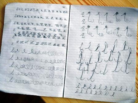 poza caiet scolar clasa Montessori