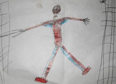 poza Spiderman pictat de copii