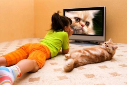 poza copil in fata televizorului