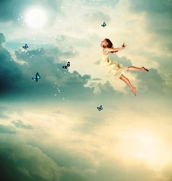 poza copil viseaza ca zboara