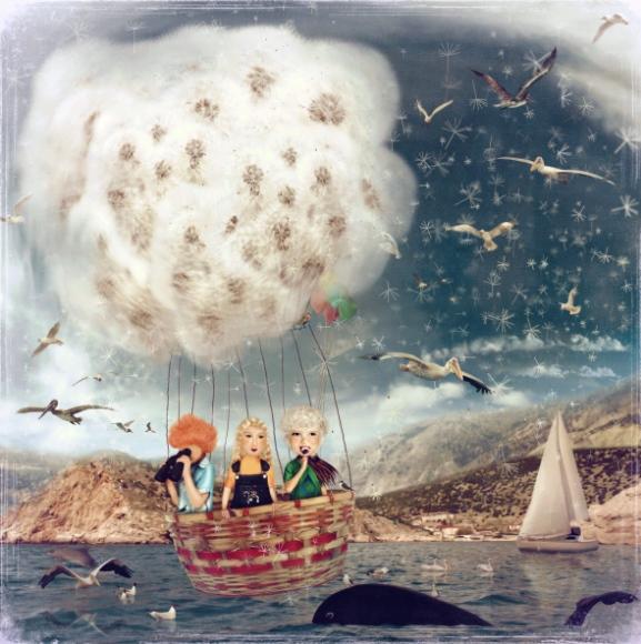 poza de poveste prieteni in balonul zburator