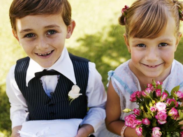 poza baiat si fetita la nunta