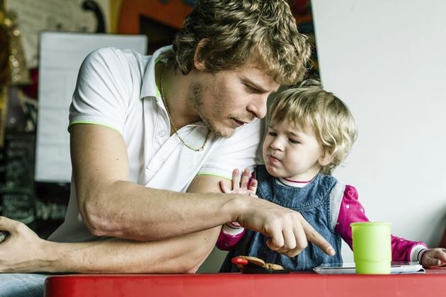 poză tata şi copilul