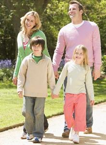 familie in parc